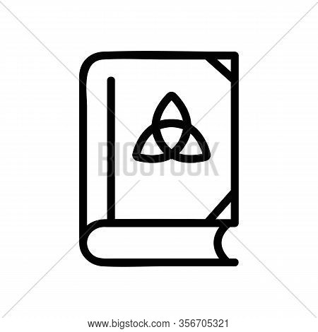 The Book Of Wizard Icon Vector. The Book Of Wizard Sign. Isolated Contour Symbol Illustration