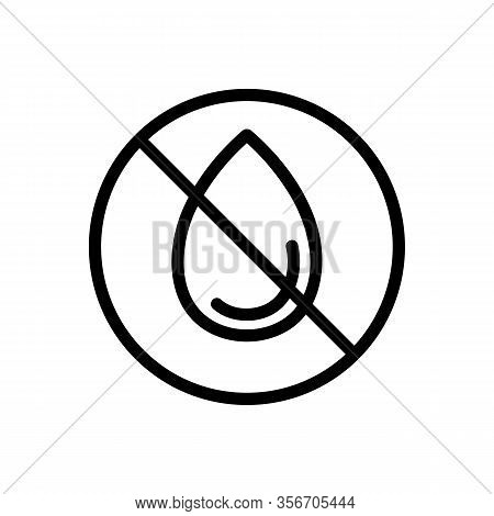 No Humidity Icon Vector. No Humidity Sign. Isolated Contour Symbol Illustration