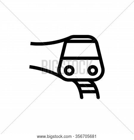 New Subway Train Icon Vector. New Subway Train Sign. Isolated Contour Symbol Illustration