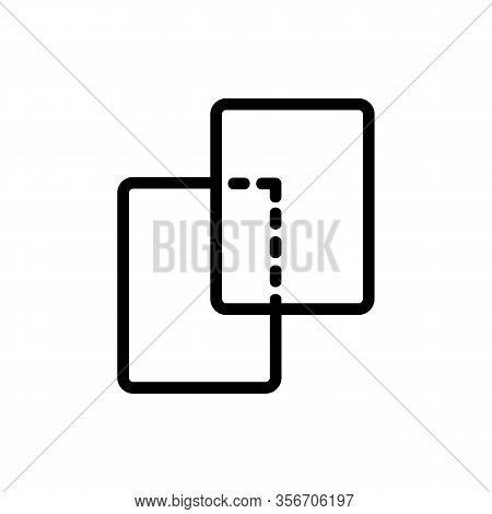 The Same Layers Icon Vector. The Same Layers Sign. Isolated Contour Symbol Illustration