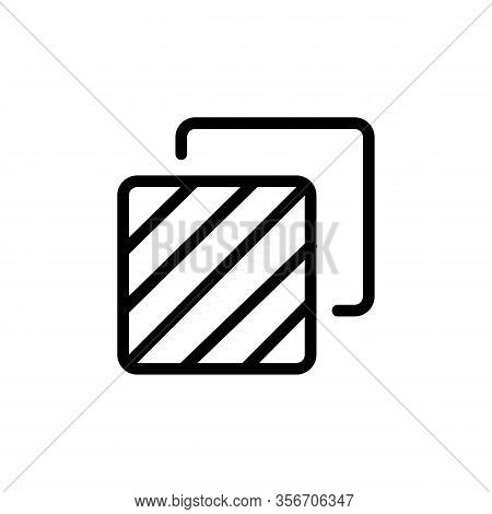 Two Layers Icon Vector. Two Layers Sign. Isolated Contour Symbol Illustration