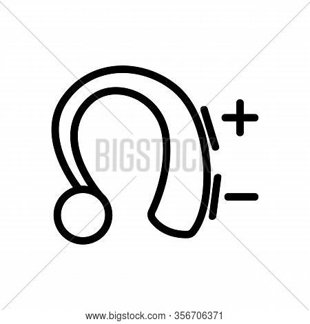 Hearing Aid Icon Vector. Hearing Aid Sign. Isolated Contour Symbol Illustration