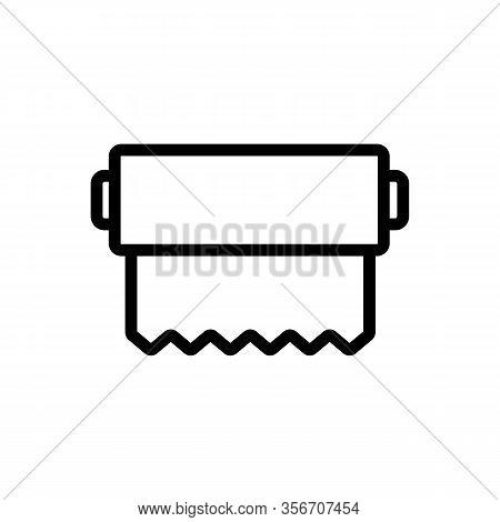 Aluminium Foil Icon Vector. Aluminium Foil Sign. Isolated Contour Symbol Illustration