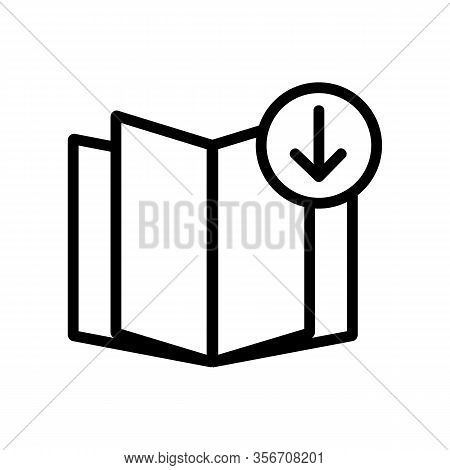 Download Book Icon Vector. Download Book Sign. Isolated Contour Symbol Illustration
