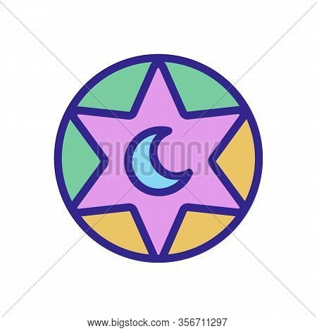 The Symbol Of Mysticism Icon Vector. The Symbol Of Mysticism Sign. Color Isolated Symbol Illustratio