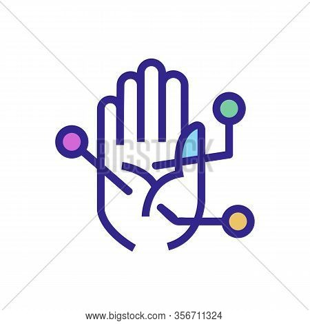 Divination By The Hand Icon Vector. Divination By The Hand Sign. Color Isolated Symbol Illustration