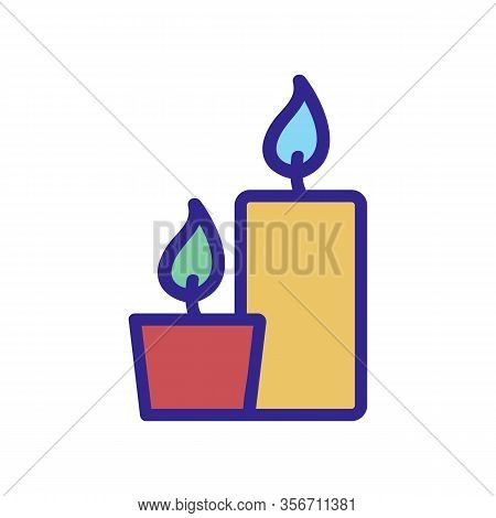 Candle Wizard Icon Vector. Candle Wizard Sign. Color Isolated Symbol Illustration