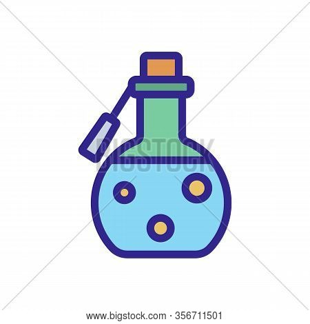 Magic Potion Icon Vector. Magic Potion Sign. Color Isolated Symbol Illustration
