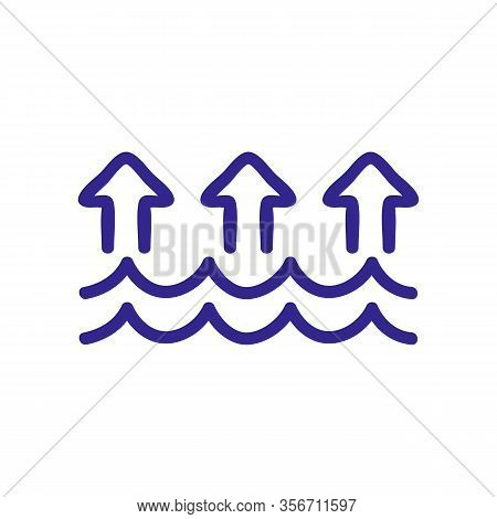Evaporation Icon Vector. Evaporation Sign. Color Isolated Symbol Illustration