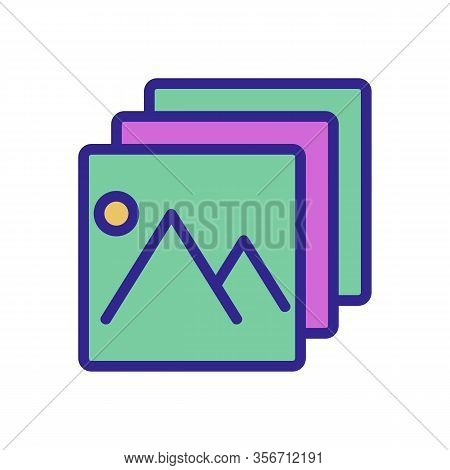 A Picture Layer Icon Vector. A Picture Layer Sign. Color Isolated Symbol Illustration