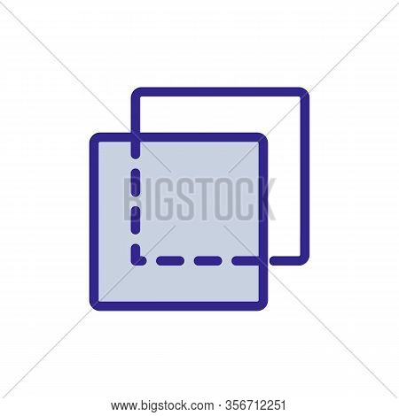 Transparent Layer Icon Vector. Transparent Layer Sign. Color Isolated Symbol Illustration