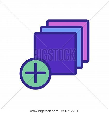 Add One Layer Icon Vector. Add One Layer Sign. Color Isolated Symbol Illustration