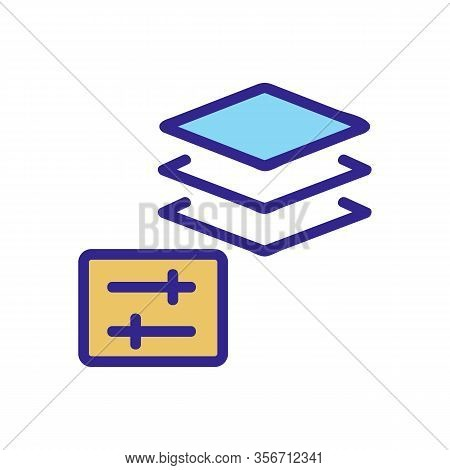 The Protective Layer Icon Vector. The Protective Layer Sign. Color Isolated Symbol Illustration