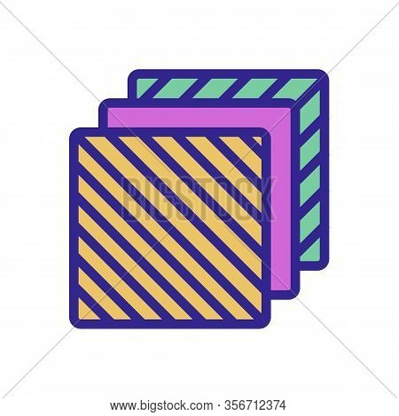 A Different Composition Layers Icon Vector. A Different Composition Layers Sign. Color Isolated Symb