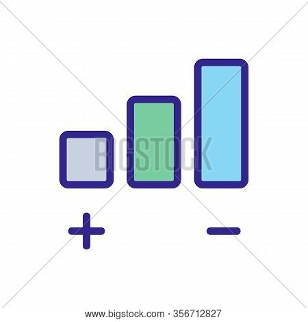 The Volume Of The Sound Icon Vector. The Volume Of The Sound Sign. Color Isolated Symbol Illustratio