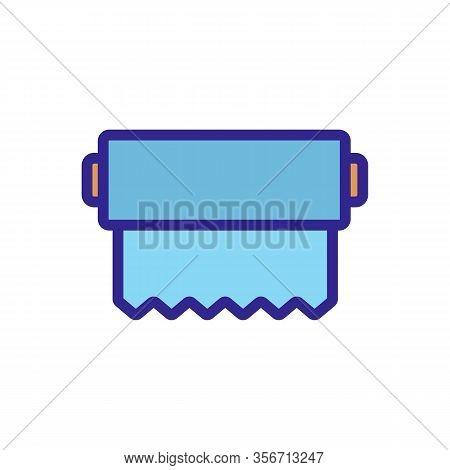 Aluminium Foil Icon Vector. Aluminium Foil Sign. Color Isolated Symbol Illustration