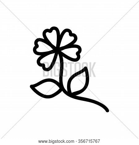 The Plant Is Harmful Icon Vector. The Plant Is Harmful Sign. Isolated Contour Symbol Illustration