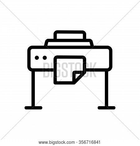 Large Format Printer Icon Vector. Large Format Printer Sign. Isolated Contour Symbol Illustration