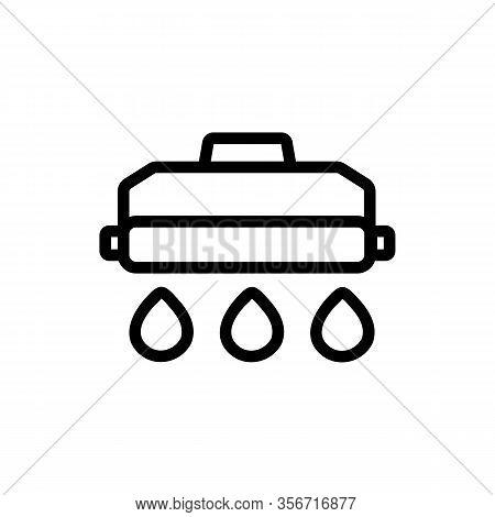 Refill Printer Icon Vector. Refill Printer Sign. Isolated Contour Symbol Illustration