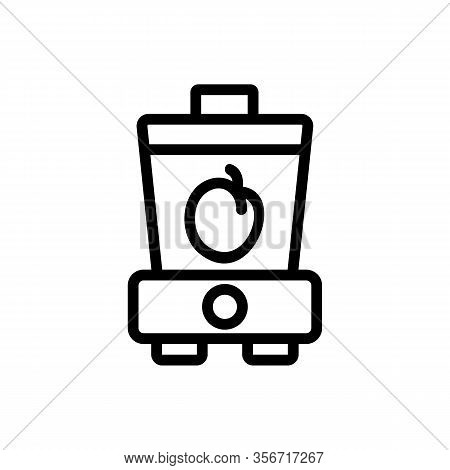 Plum Smoothie Icon Vector. Plum Smoothie Sign. Isolated Contour Symbol Illustration
