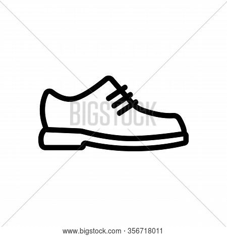Leather Shoes Icon Vector. Leather Shoes Sign. Isolated Contour Symbol Illustration
