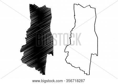 Lubombo Region (swaziland, Kingdom Of Eswatini) Map Vector Illustration, Scribble Sketch Lubombo Map