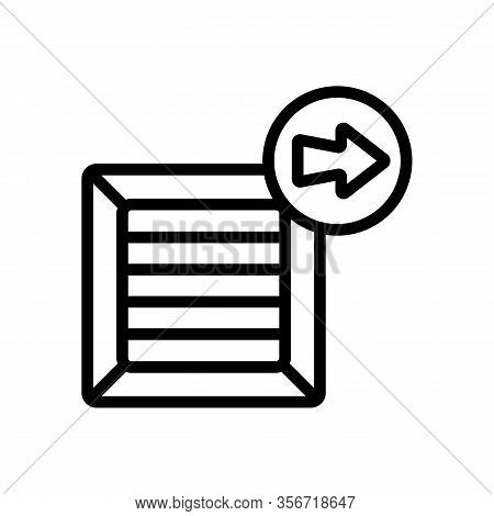 Sending Mail Icon Vector. Sending Mail Sign. Isolated Contour Symbol Illustration