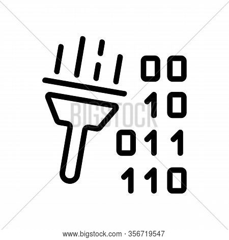 Cleaning Harmful Code Icon Vector. Cleaning Harmful Code Sign. Isolated Contour Symbol Illustration