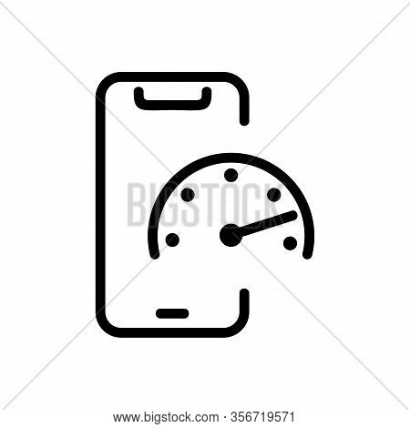 A Quick Phone Icon Vector. A Quick Phone Sign. Isolated Contour Symbol Illustration