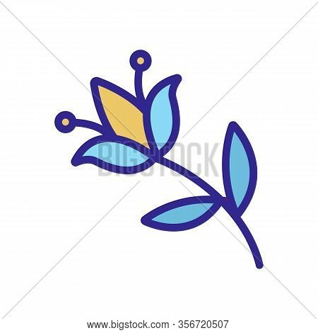 Flower Pest Icon Vector. Flower Pest Sign. Color Isolated Symbol Illustration