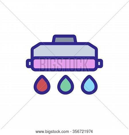 Refill Printer Icon Vector. Refill Printer Sign. Color Isolated Symbol Illustration