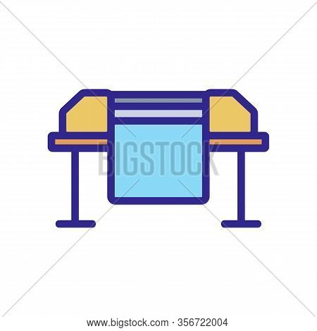 Large Format Printer Icon Vector. Large Format Printer Sign. Color Isolated Symbol Illustration