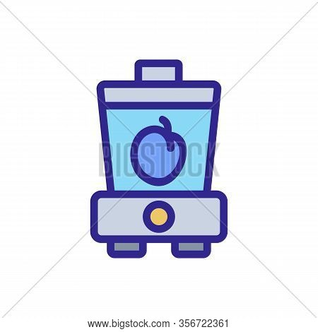 Plum Smoothie Icon Vector. Plum Smoothie Sign. Color Isolated Symbol Illustration