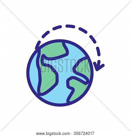 Exports Of Goods Planet Icon Vector. Exports Of Goods Planet Sign. Color Isolated Symbol Illustratio