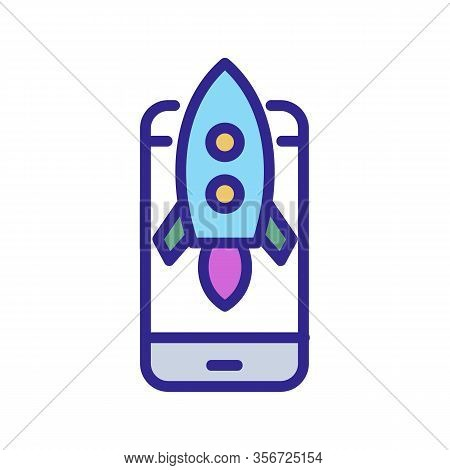 A Quick Phone Icon Vector. A Quick Phone Sign. Color Isolated Symbol Illustration