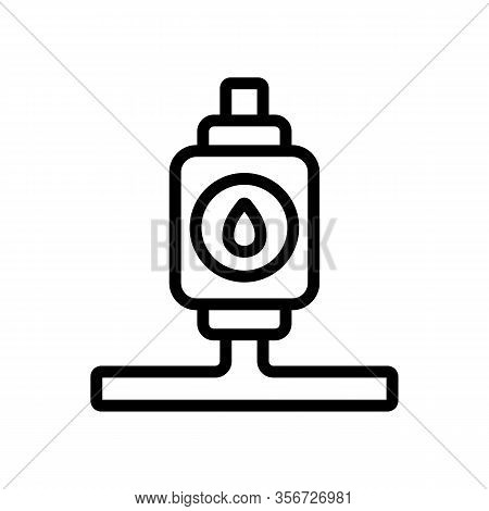 Install The Water Pump Icon Vector. Install The Water Pump Sign. Isolated Contour Symbol Illustratio