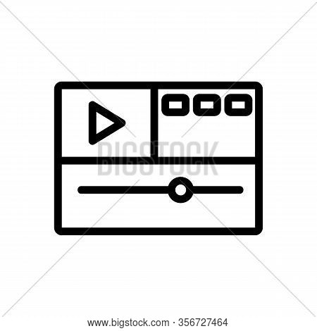 Video Montage Icon Vector. Video Montage Sign. Isolated Contour Symbol Illustration