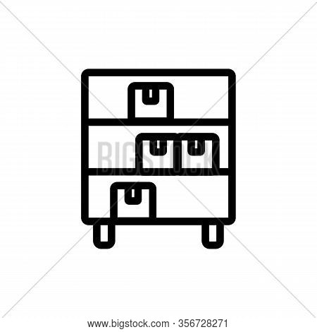 Commodity Shelf Icon Vector. Commodity Shelf Sign. Isolated Contour Symbol Illustration