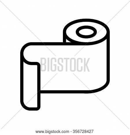 Foil Roll Icon Vector. Foil Roll Sign. Isolated Contour Symbol Illustration