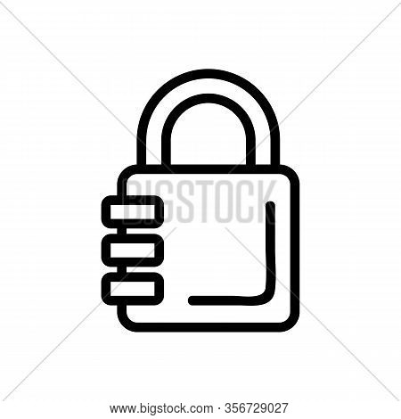 The Combination Of The Password Icon Vector. The Combination Of The Password Sign. Isolated Contour