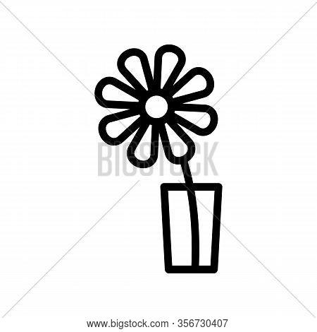 Blooming Chrysanthemum Icon Vector. Blooming Chrysanthemum Sign. Isolated Contour Symbol Illustratio