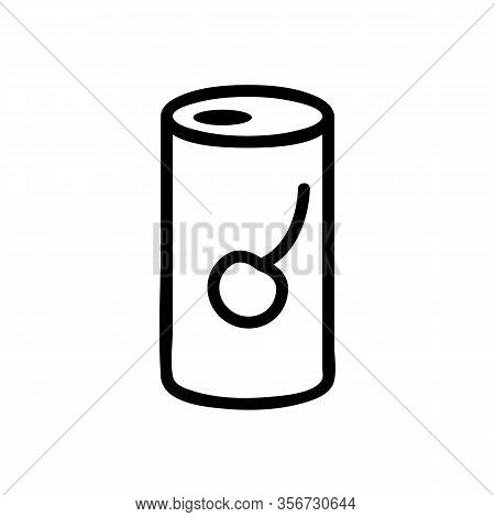 Cherry Soda Icon Vector. Cherry Soda Sign. Isolated Contour Symbol Illustration
