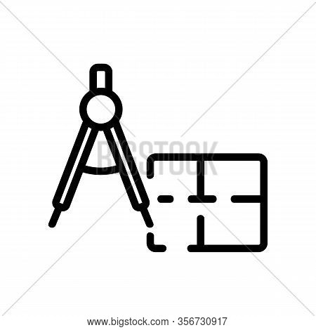 The Size Of The Apartment Icon Vector. The Size Of The Apartment Sign. Isolated Contour Symbol Illus