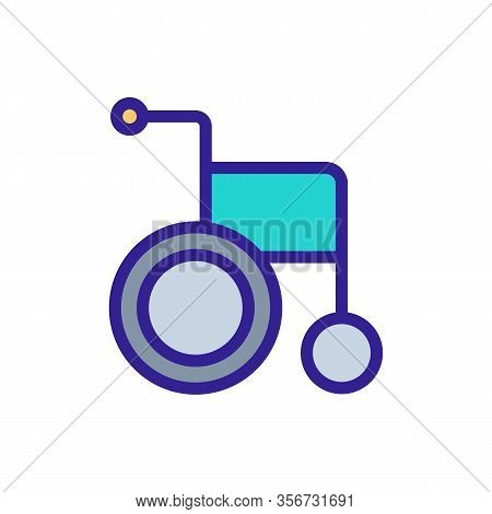 Classic Wheelchair Icon Vector. Classic Wheelchair Sign. Color Isolated Symbol Illustration