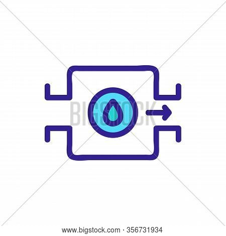 Quick Water Pump Icon Vector. Quick Water Pump Sign. Color Isolated Symbol Illustration