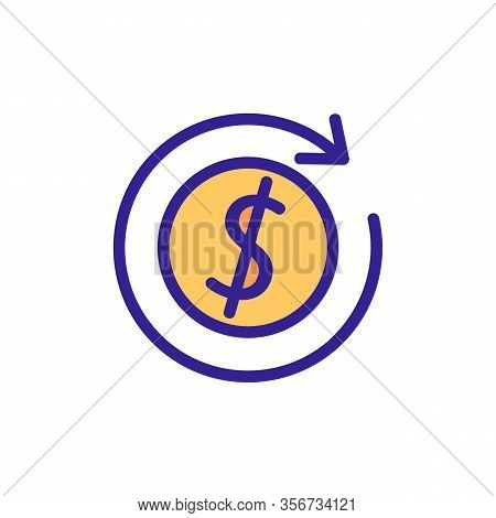 Quick Money Transfer Icon Vector. Quick Money Transfer Sign. Color Isolated Symbol Illustration