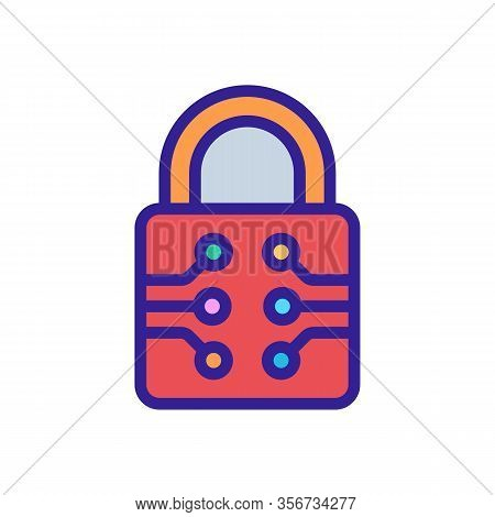 Password Cipher Icon Vector. Password Cipher Sign. Color Isolated Symbol Illustration