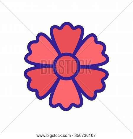 Blooming Chrysanthemum Icon Vector. Blooming Chrysanthemum Sign. Color Isolated Symbol Illustration