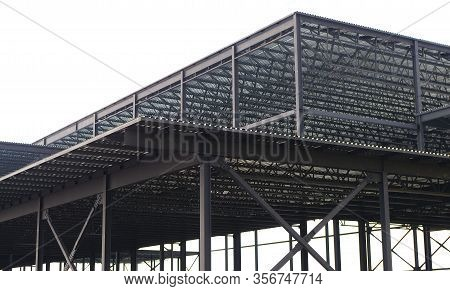 Metal Beam Structure Construction Site Building Frame
