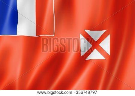 Wallis And Futuna Flag, Overseas Territories Of France. 3d Illustration